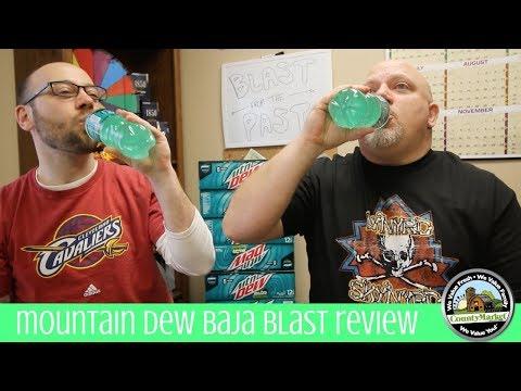 NEW Mountain Dew Baja Blast Review | First Taste Test | Two Bald Guys