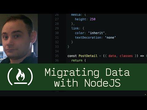 Data Migration with NodeJS (P5D61) - Live Coding with Jesse
