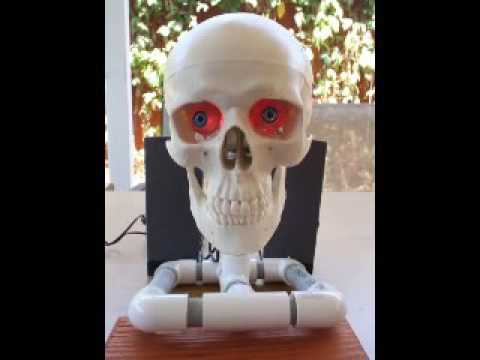 Talking DIY Animatronic Skull Halloween Prop