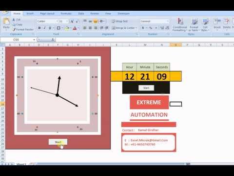 Analog & Digital Clock using Excel VBA