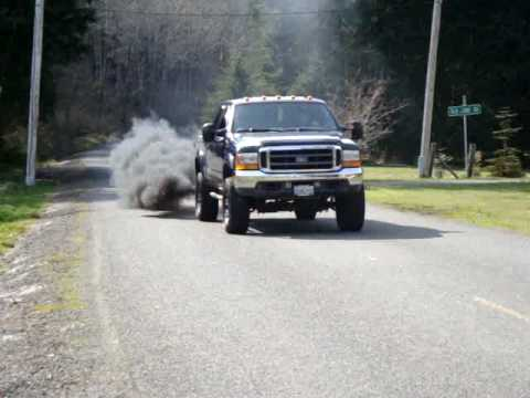 F-350 POWER STROKE DIESEL BLACK SMOKE
