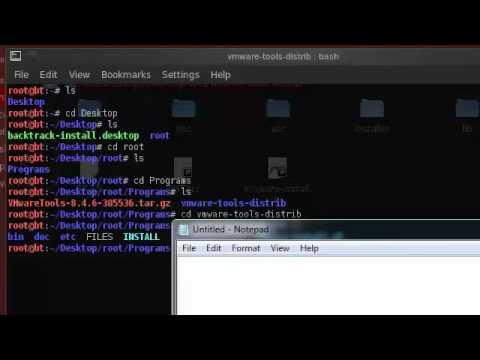 BackTrack 5 KDE  + VMware tools install