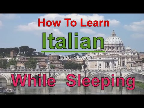 How To Learn Italian While Sleeping. Best Version