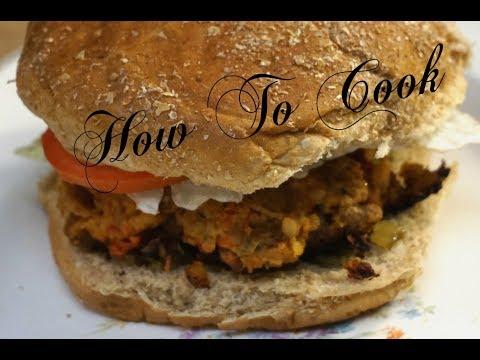 How To Make Vegan Vegetarian chunks Burger Recipe | HOW TO COOK