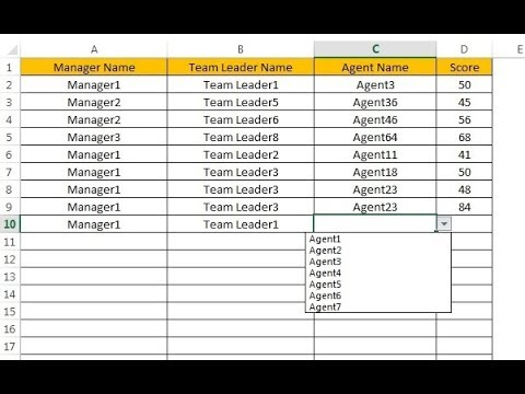 Excel Tip: Hierarchy Drop down in Excel
