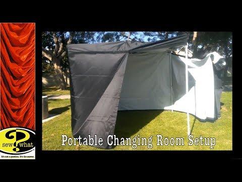 Portable Changing Room, Setup of Dressing Room