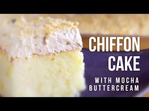 Chiffon Cake with Mocha Buttercream