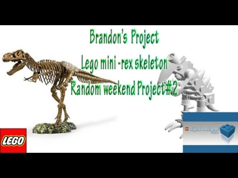 How to Build lego mini t-rex dinosaur skeleton stop-motion build