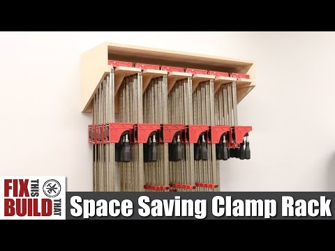 Space Saving Parallel Clamp Rack | DIY Build Plans
