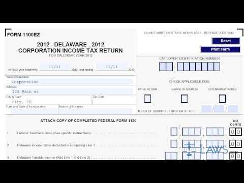 Form 1100EZ Corporation Income Tax Return
