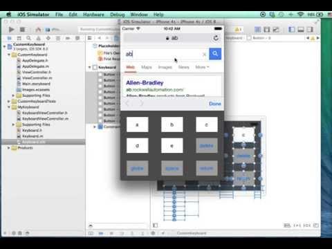Simple Custom Keyboard for iOS8 tutorial