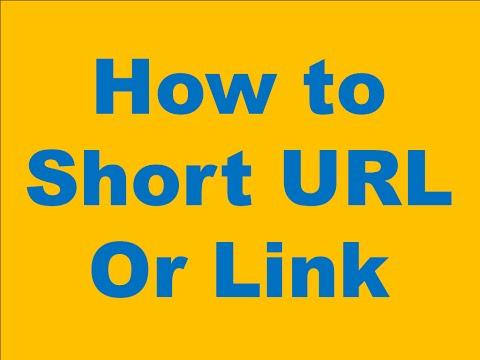 How to Short URL Or Link in Hindi/Urdu