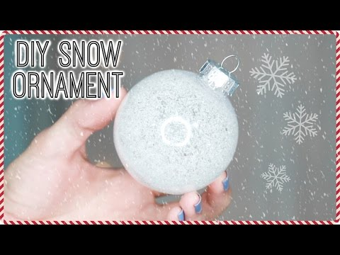 DIY SNOW HOLIDAY ORNAMENTS | EASY HOLIDAY DECOR TUTORIAL
