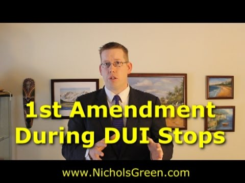 1st amendment rights during DUI stop or police encounter - Virginia