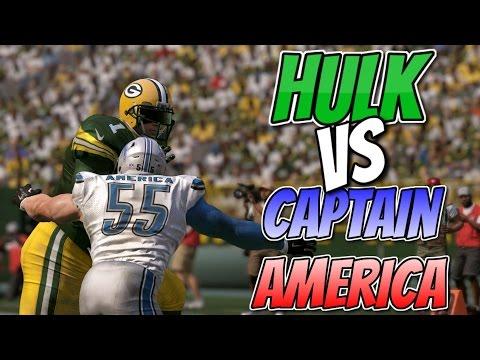 INCREDIBLE HULK vs CAPTAIN AMERICA!! Madden 17 Super Hero Series Game 3