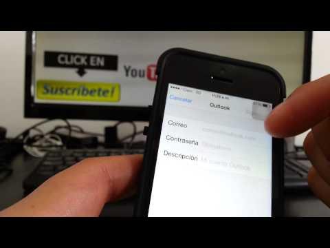 Cómo agregar múltiples cuentas correo iPhone 5S 5C 5 4 iOS 7 español Channeliphone