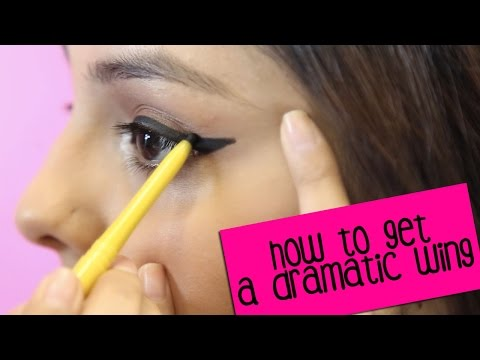 How To Apply Eyeliner With A Slightly Dramatic Wing
