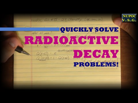 NUPOC VSG #88 - Find Remaining Radioactive Material as it Decays