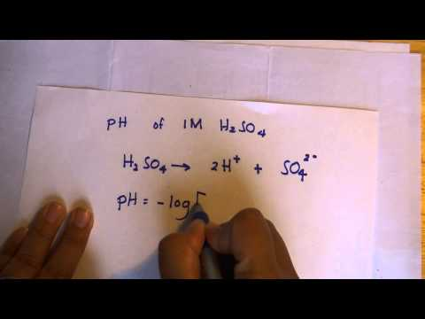 Calculating the pH value of 1 M H2SO4