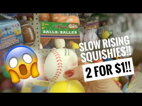 SLOW RISING SQUISHIES AT DOLLAR TREE!!! | VLOG