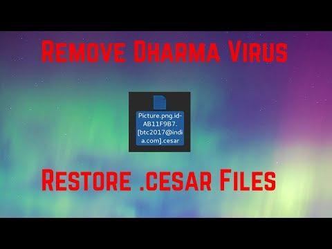 How to Remove .cesar .cezar Ransom Virus Restore Files
