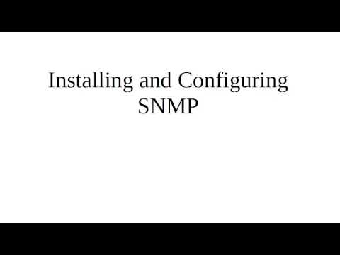 Installing and Configuring SNMP on Linux