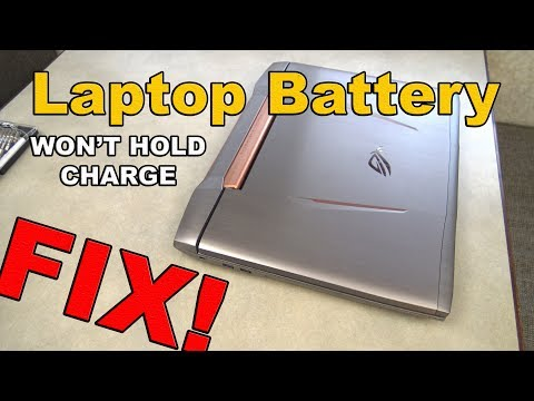 Laptop Battery wont hold a charge FIX (doesn't last, charge or dies quickly)