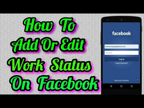How To Add Work Status Or Edit Work On Facebook In Mobile
