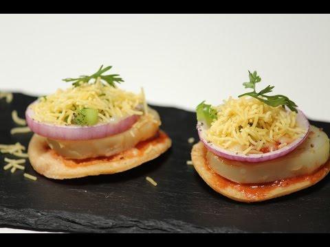 Papdi Pizza | Sanjeev Kapoor Khazana
