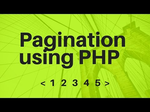 Create Pagination in PHP and MySQL