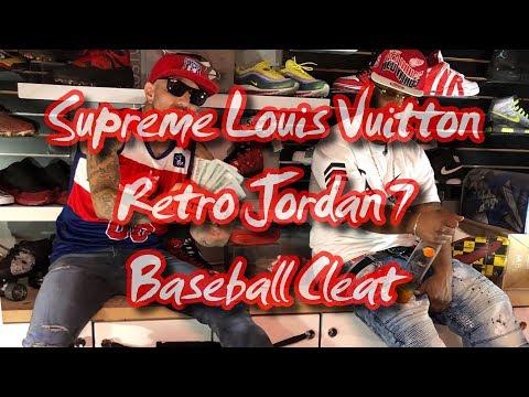 Supreme Louis Vuitton retro Jordan seven baseball cleats