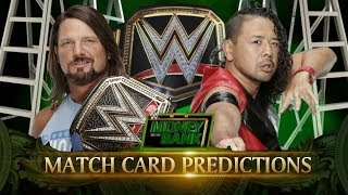 WWE Money In The Bank 2018 Match Card PREDICTIONS