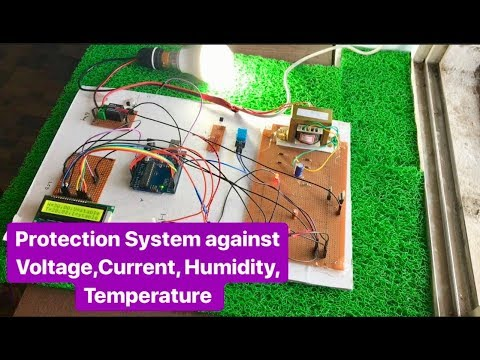 How to make Smart Protection System against Voltage, Current, Humidity & Temperature for AC Load