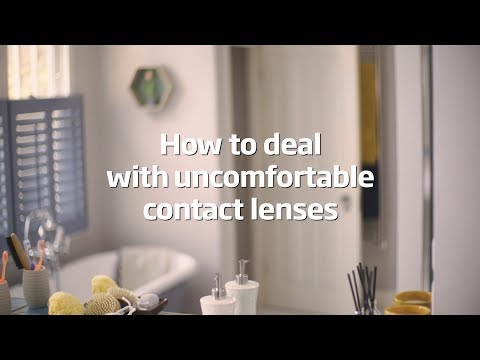 How to deal with uncomfortable contact lenses