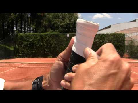 How To Play Tennis - How To Wrap OverGrip Tape on a Tennis Racket