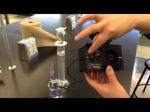 using color as rate of reaction measurement