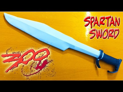How to make a  paper sword - 300 spartan sword