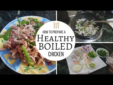 High Protein Bodybuilding Boiled Chicken | Very Easy To Prepare