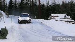 Esapekka Lappi testing Toyota Yaris WRC for Rally Sweden 2018
