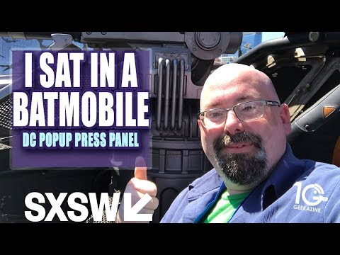 I Sat in the Justice League Batmobile at SXSW