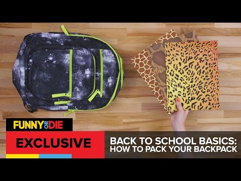 Back To School Basics: How To Pack Your Backpack