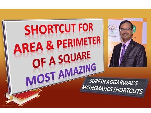 Trick 273 - Find PERIMETER and AREA of Square Mentally