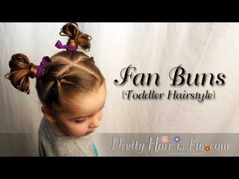 How to Create Fan Buns {Easy Toddler Hairstyle} |Pretty Hair is Fun