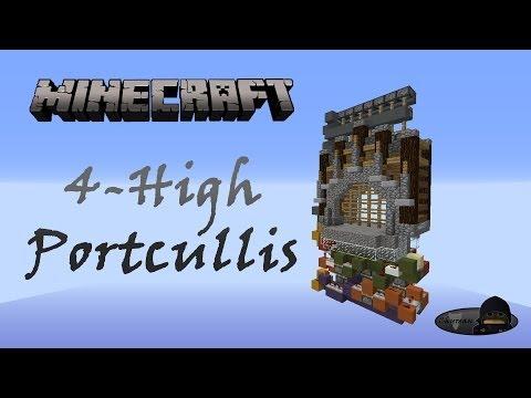 Minecraft: 4-High Castle Gate [Portcullis]