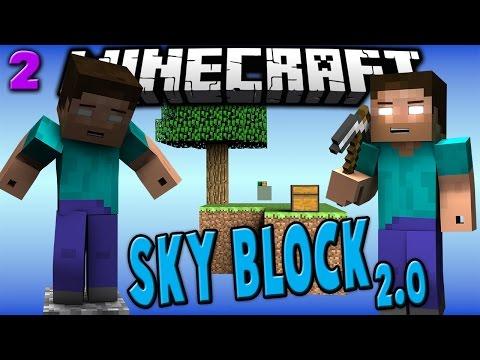 SKY BLOCK 2.0 #2 - NETHER PORTAL - Minecraft w/ Taz