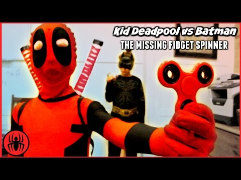 THE MISSING FIDGET SPINNER Batman vs Kid Deadpool Ultimate Freakout SuperHero Kids