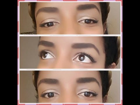 How I shape and fill in my eyebrows
