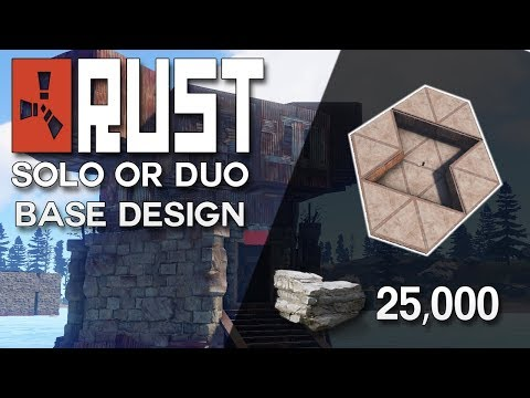 EASILY PROTECTED RUST SOLO OR DUO BASE DESIGN - Rust Base Building (25,000 Stone)