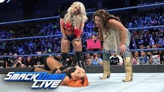 Mickie James and Alexa Bliss ambush Becky Lynch: SmackDown LIVE, Jan. 24, 2017