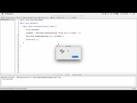 64. Dialog boxes: Converting String input to numbers (integer) - Learn Java